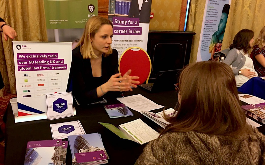 TutorYou at the 'Study in the UK' Fair on five different stands