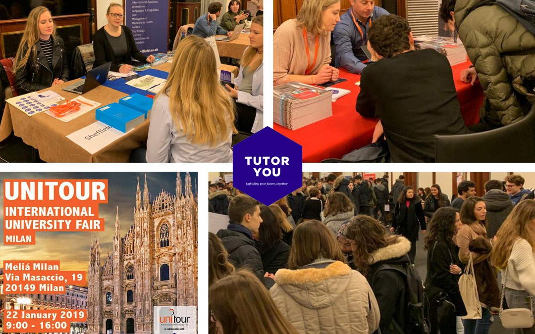 TutorYou at the UNITOUR International University Fair 2019 Milan