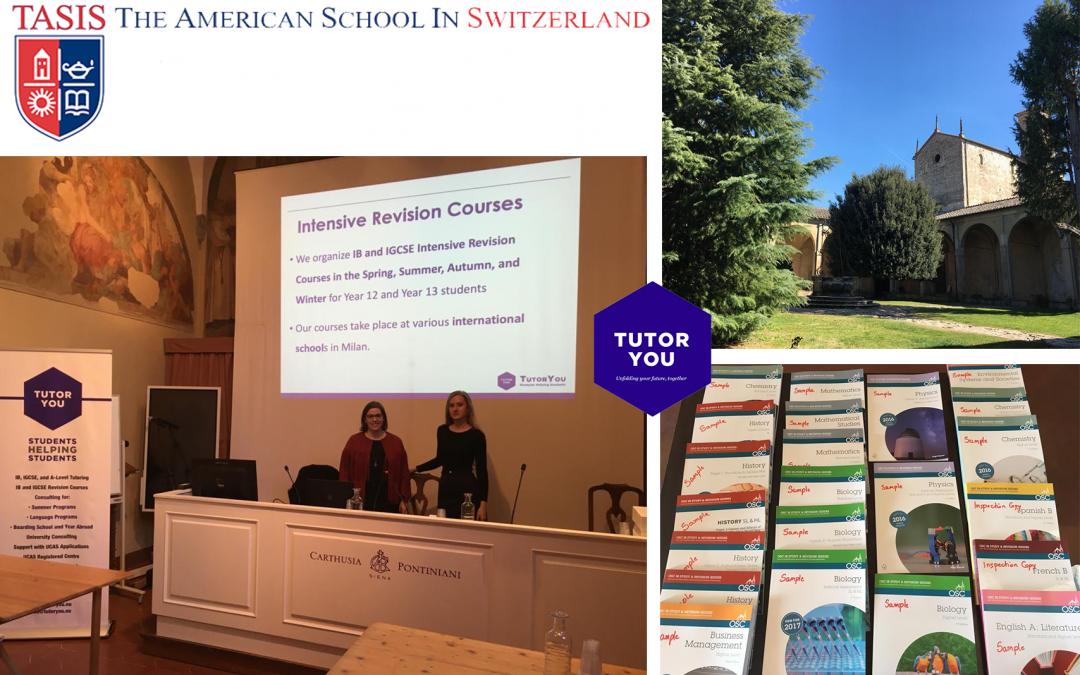 TutorYou at the TASIS Senior IB Study Week 2019 in Siena