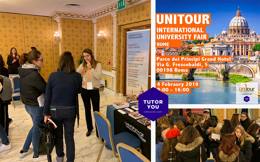 TutorYou at the UNITOUR International University Fair 2019 Rome