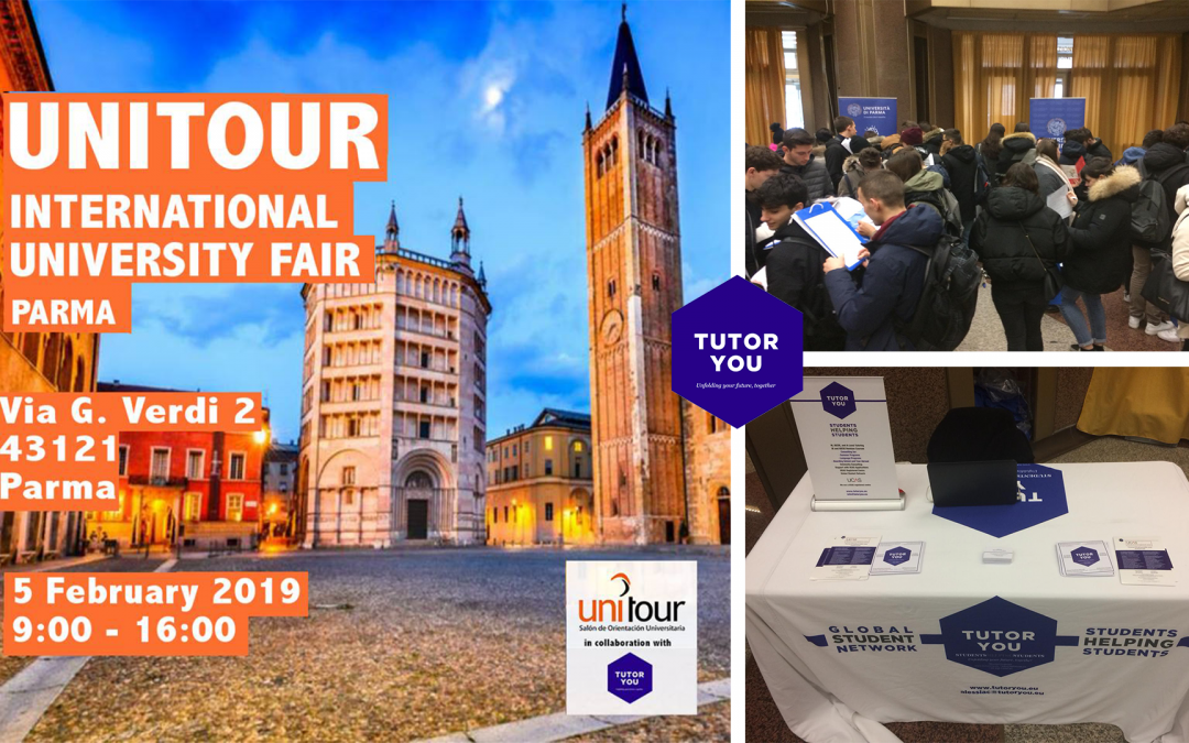 TutorYou at the UNITOUR International University Fair 2019 Parma