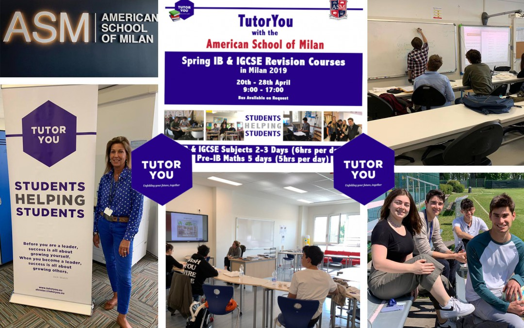 TutorYou 2019 Spring Revision Courses at the American School of Milan