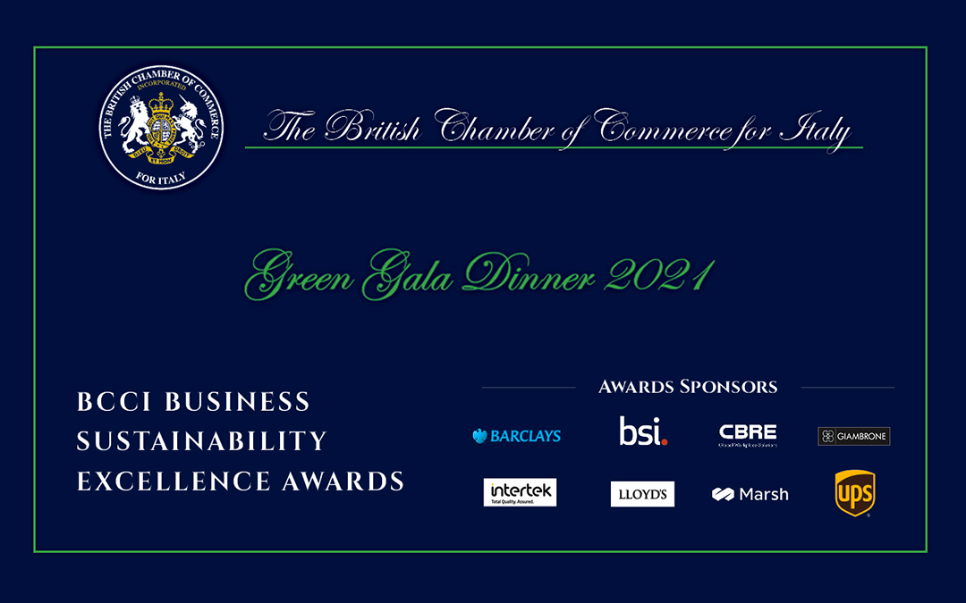 British Chamber of Commerce for Italy Green Gala 2021